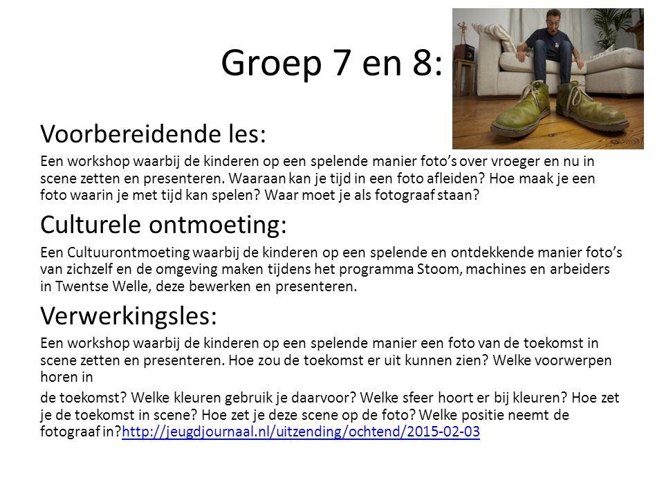 Groep 7 en 8: Voorbereidende les: Culturele ontmoeting: