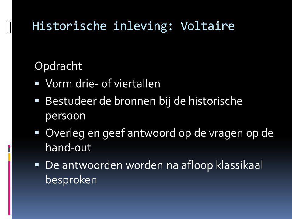 Historische inleving: Voltaire
