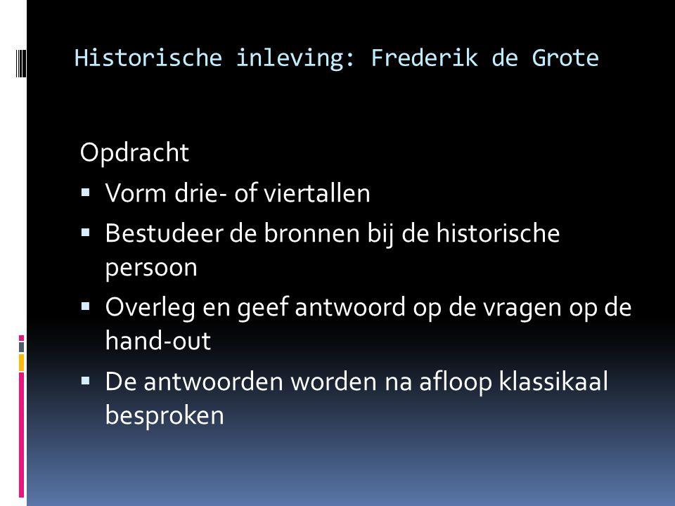Historische inleving: Frederik de Grote