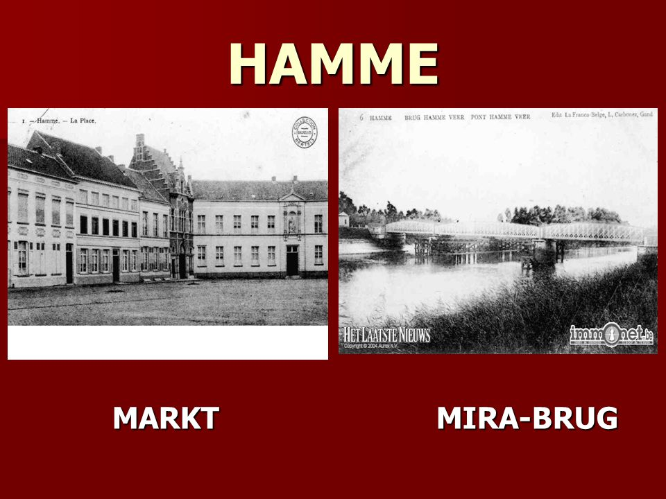 HAMME MARKT MIRA-BRUG