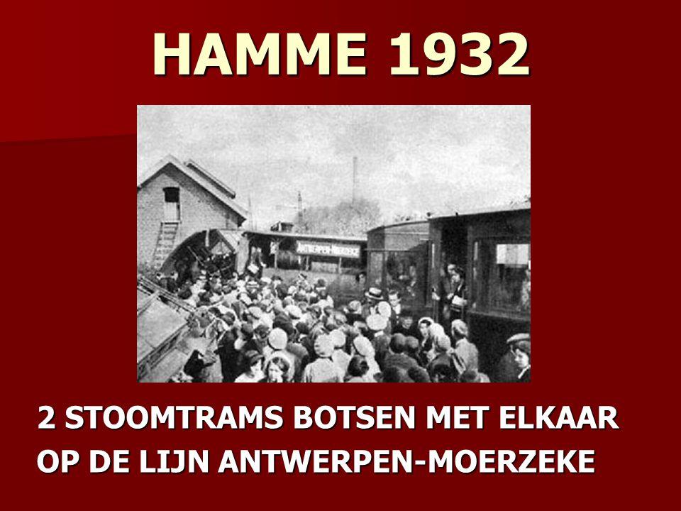 HAMME 1932 2 STOOMTRAMS BOTSEN MET ELKAAR