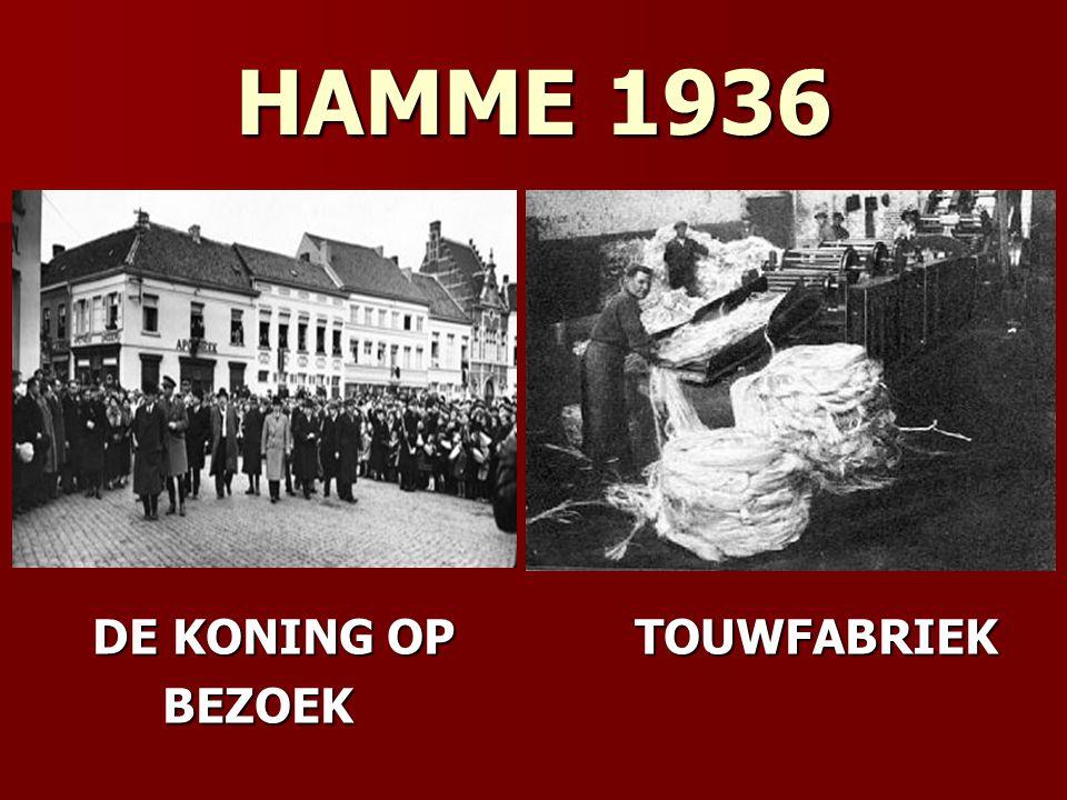 HAMME 1936 DE KONING OP TOUWFABRIEK BEZOEK