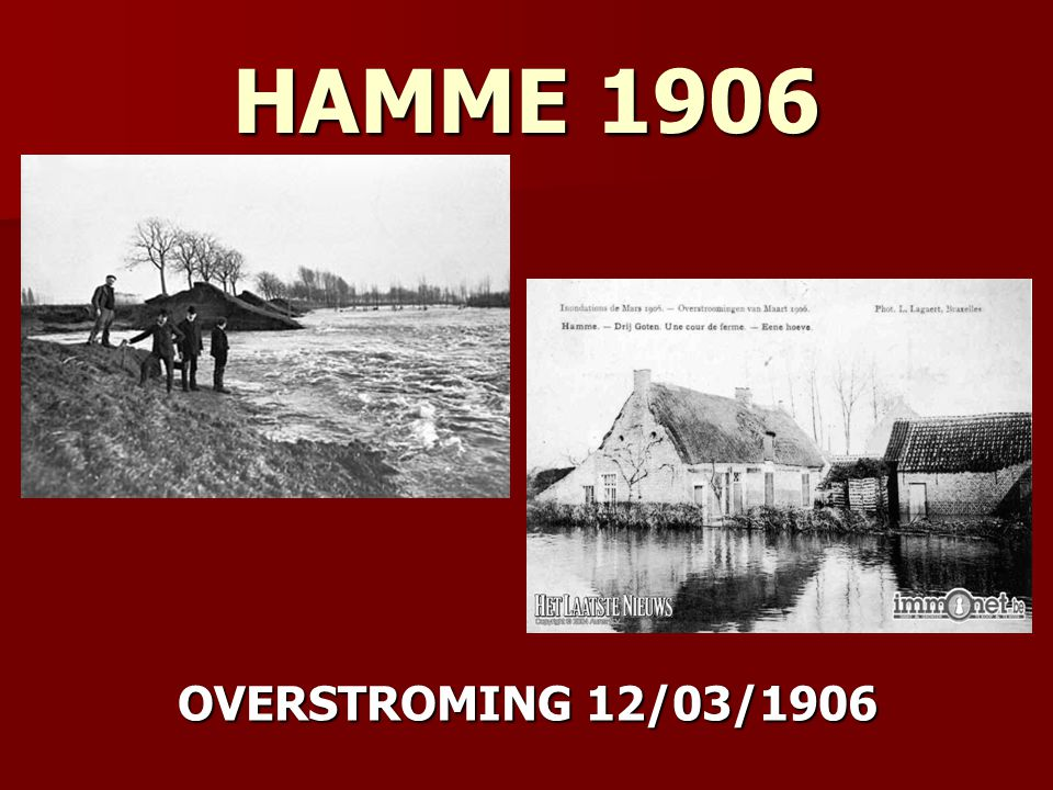 HAMME 1906 OVERSTROMING 12/03/1906