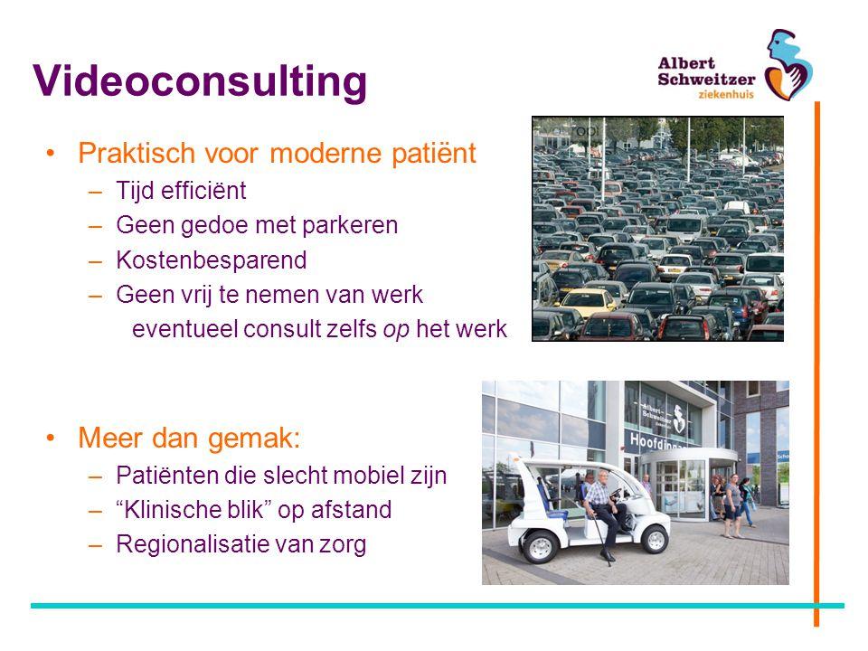 Videoconsulting Praktisch voor moderne patiënt Meer dan gemak: