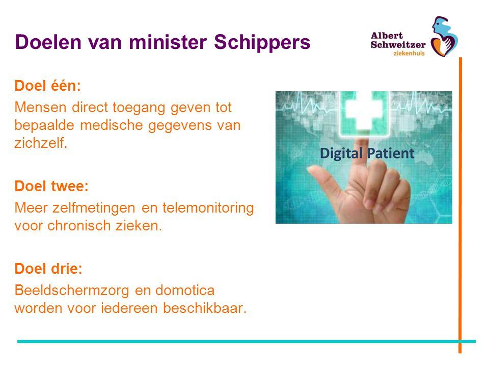 Doelen van minister Schippers