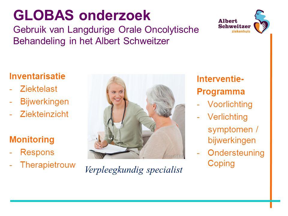 GLOBAS onderzoek Gebruik van Langdurige Orale Oncolytische Behandeling in het Albert Schweitzer