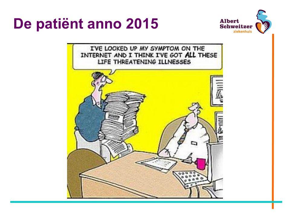 De patiënt anno 2015
