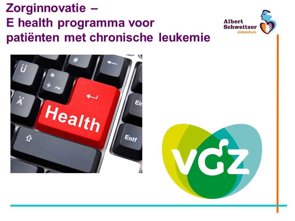 Zorginnovatie – E health programma voor patiënten met chronische leukemie
