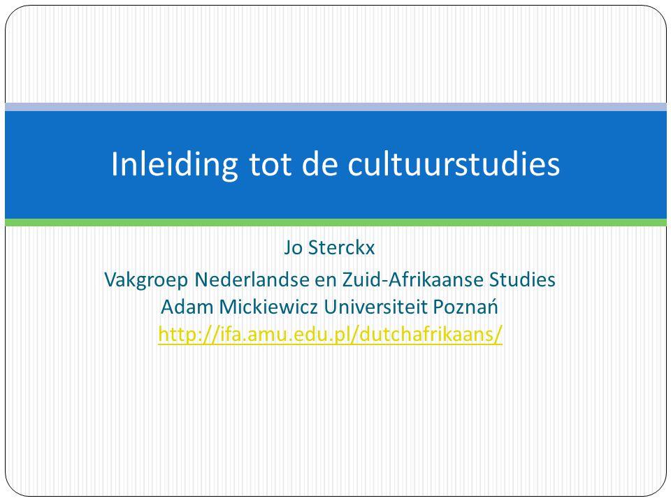 Inleiding tot de cultuurstudies