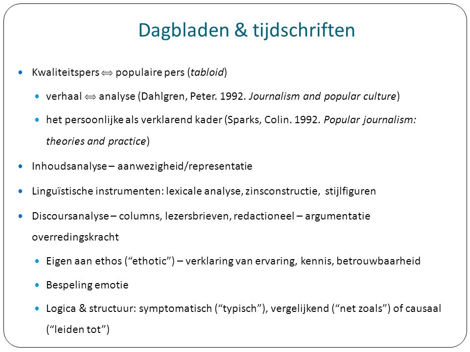 Dagbladen & tijdschriften