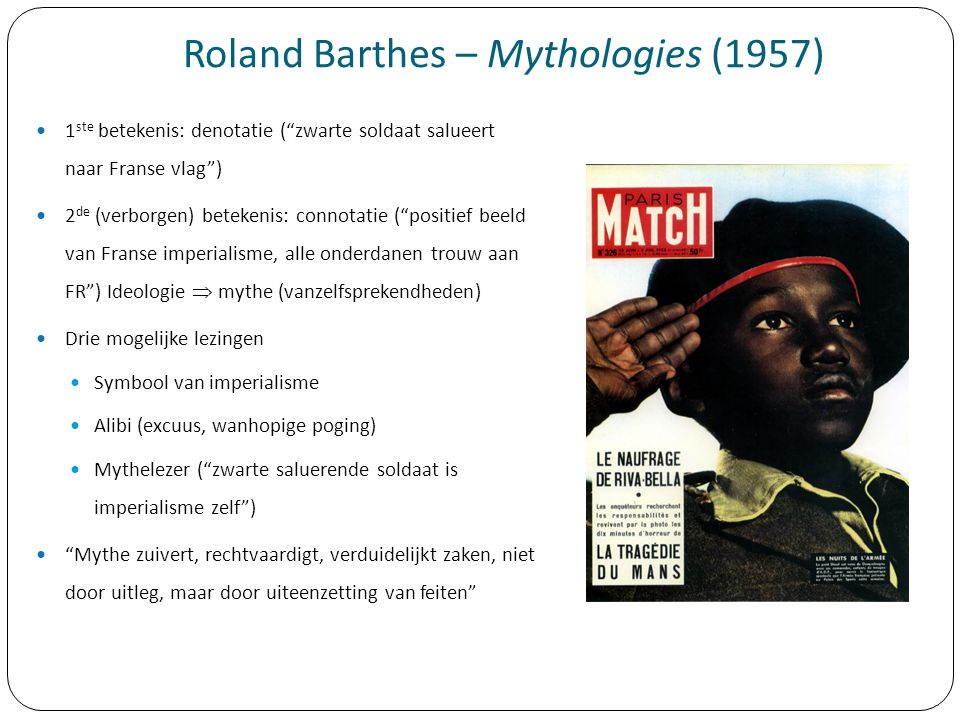 Roland Barthes – Mythologies (1957)