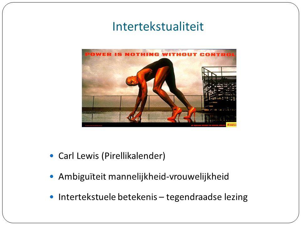 Intertekstualiteit Carl Lewis (Pirellikalender)