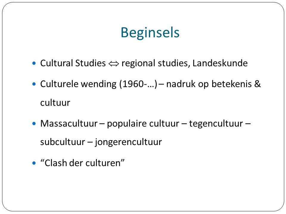 Beginsels Cultural Studies  regional studies, Landeskunde