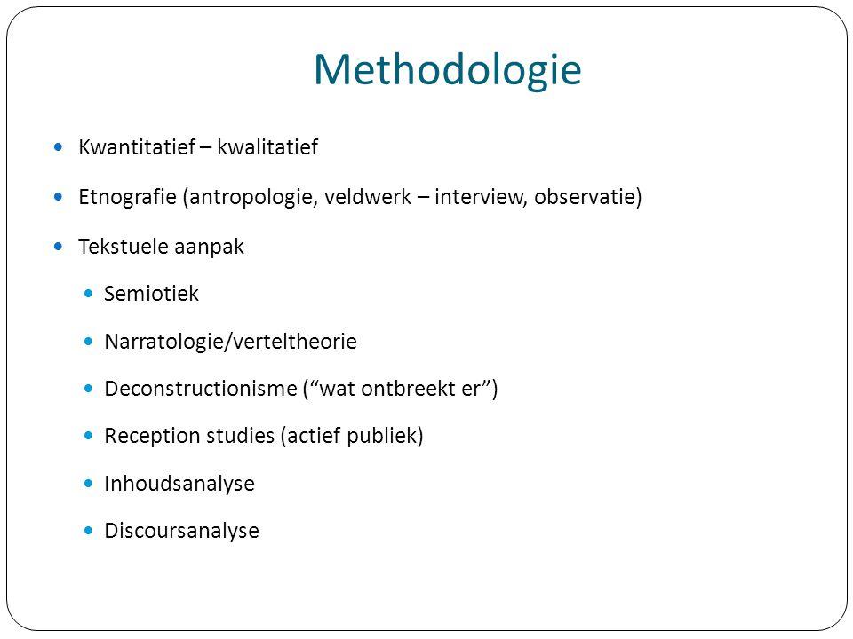 Methodologie Kwantitatief – kwalitatief