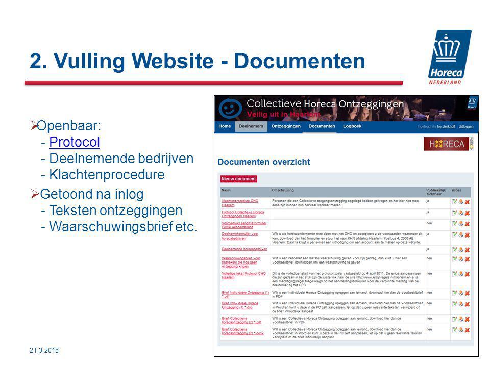 2. Vulling Website - Documenten