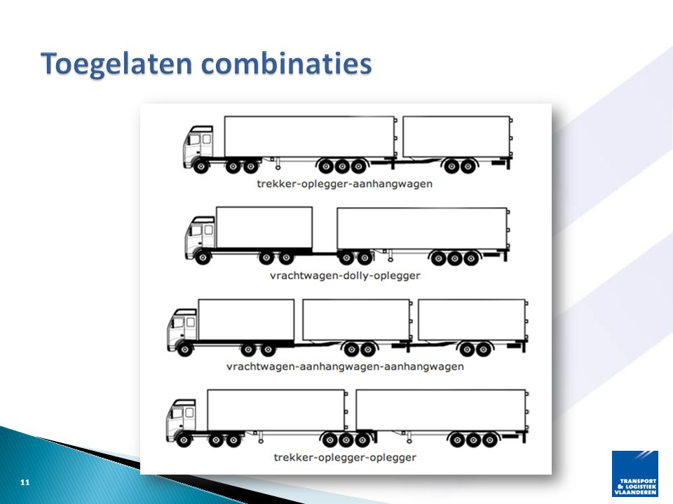 Toegelaten combinaties
