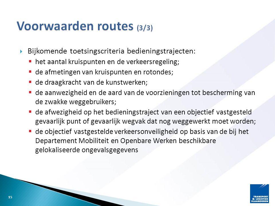 Voorwaarden routes (3/3)