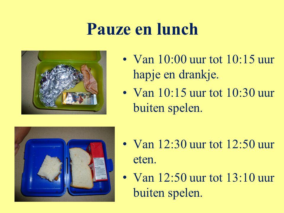 Pauze en lunch Van 10:00 uur tot 10:15 uur hapje en drankje.