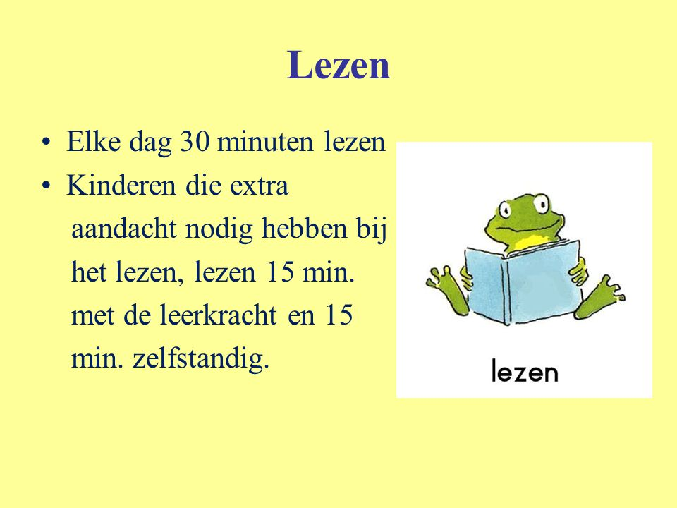 Lezen Elke dag 30 minuten lezen Kinderen die extra