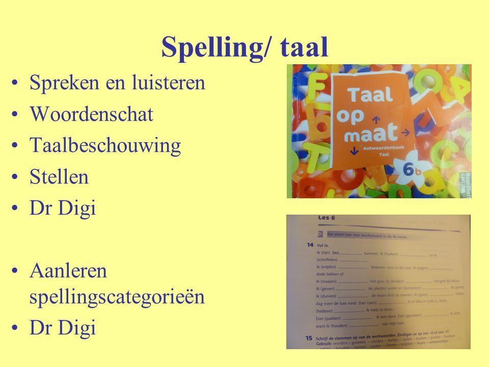 Spelling/ taal Spreken en luisteren Woordenschat Taalbeschouwing