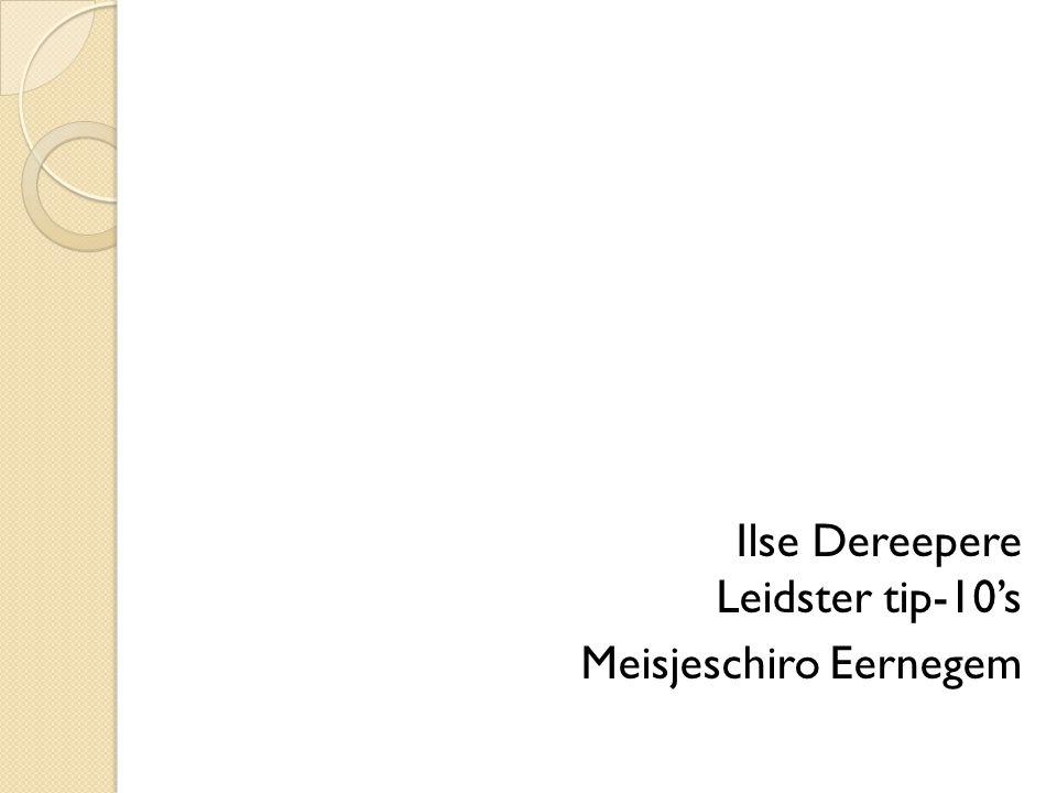 Ilse Dereepere Leidster tip-10's Meisjeschiro Eernegem