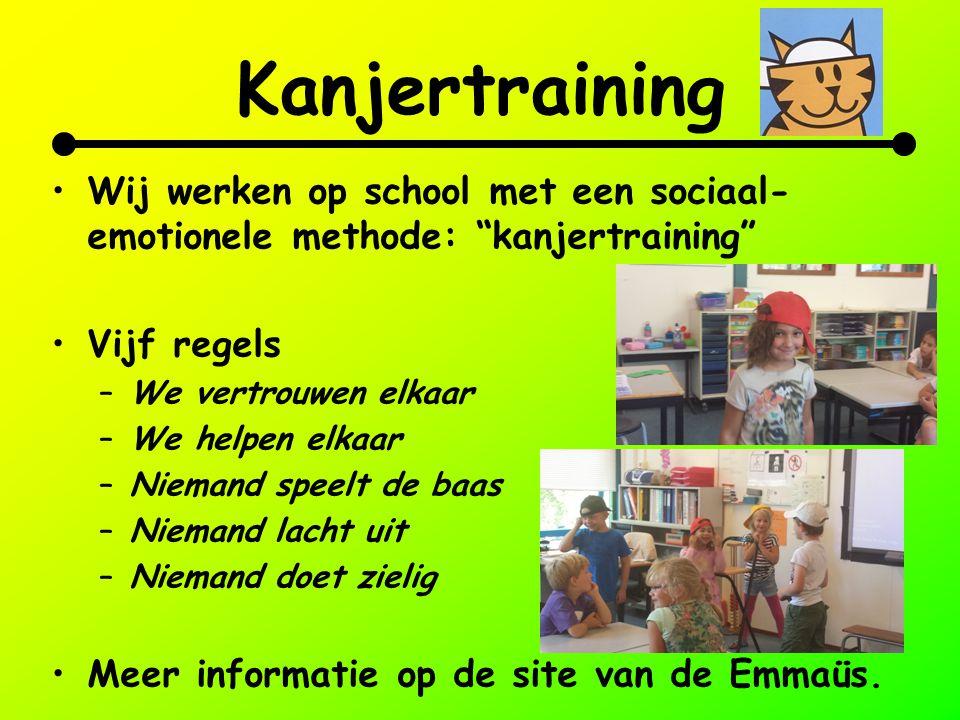 Kanjertraining Wij werken op school met een sociaal-emotionele methode: kanjertraining Vijf regels.