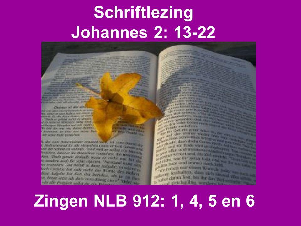 Schriftlezing Johannes 2: 13-22