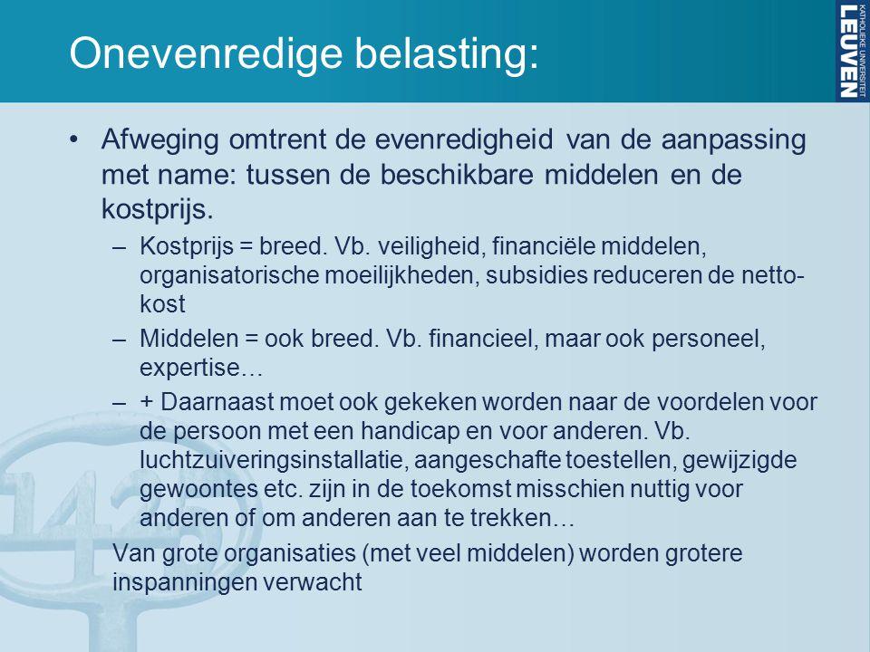Onevenredige belasting: