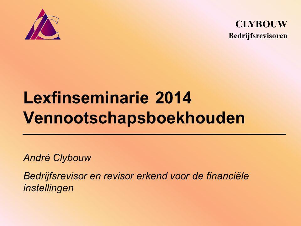 Lexfinseminarie 2014 Vennootschapsboekhouden