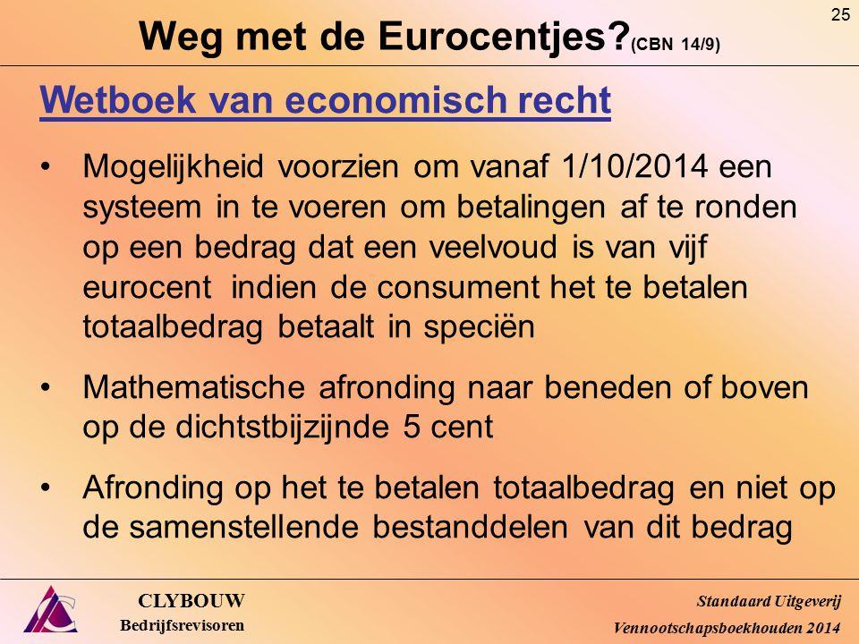Weg met de Eurocentjes (CBN 14/9)