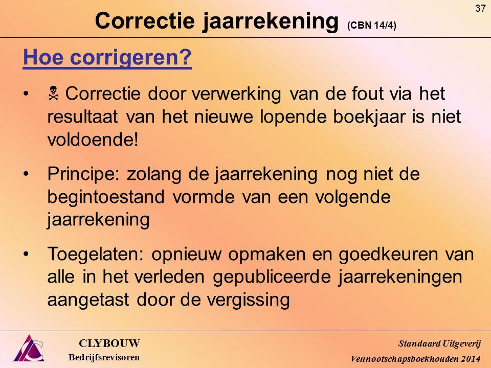 Correctie jaarrekening (CBN 14/4)
