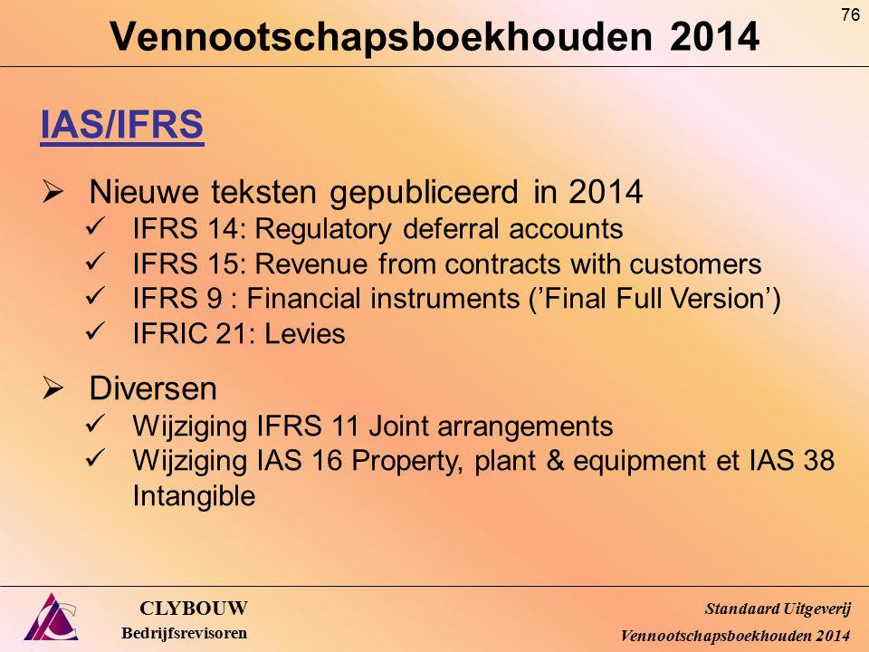 Vennootschapsboekhouden 2014