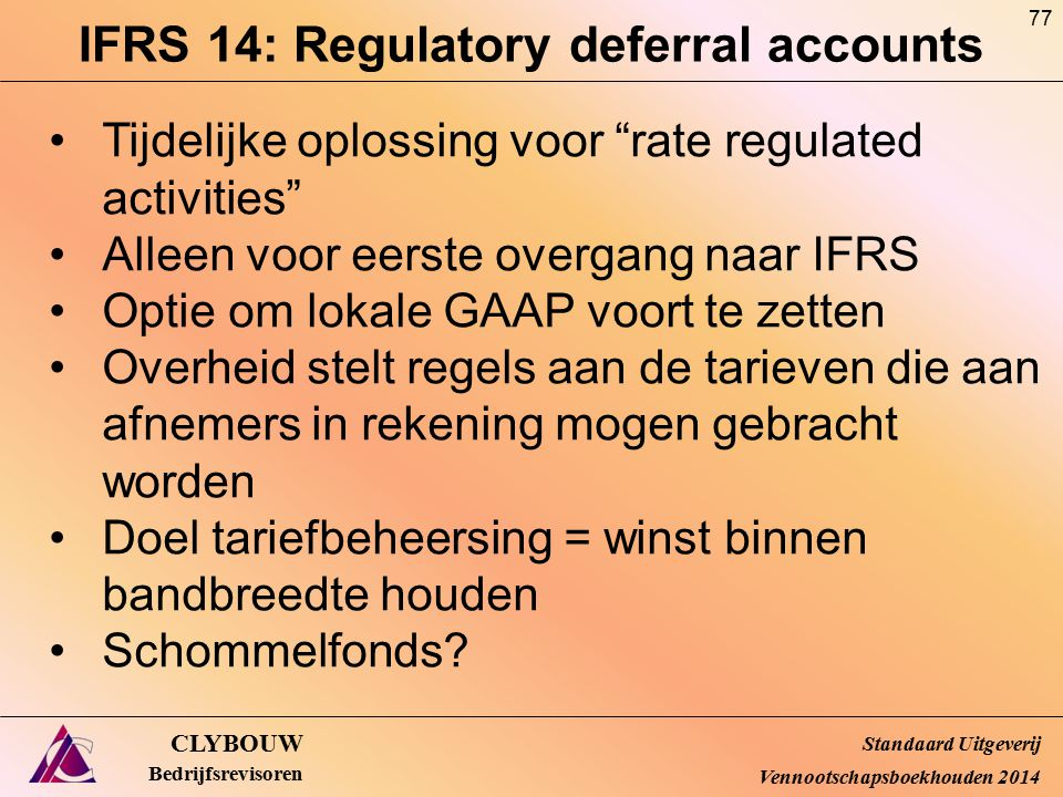IFRS 14: Regulatory deferral accounts