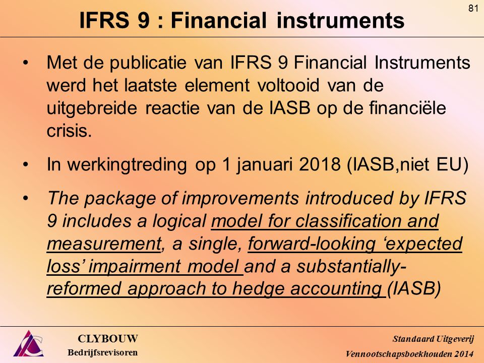 IFRS 9 : Financial instruments
