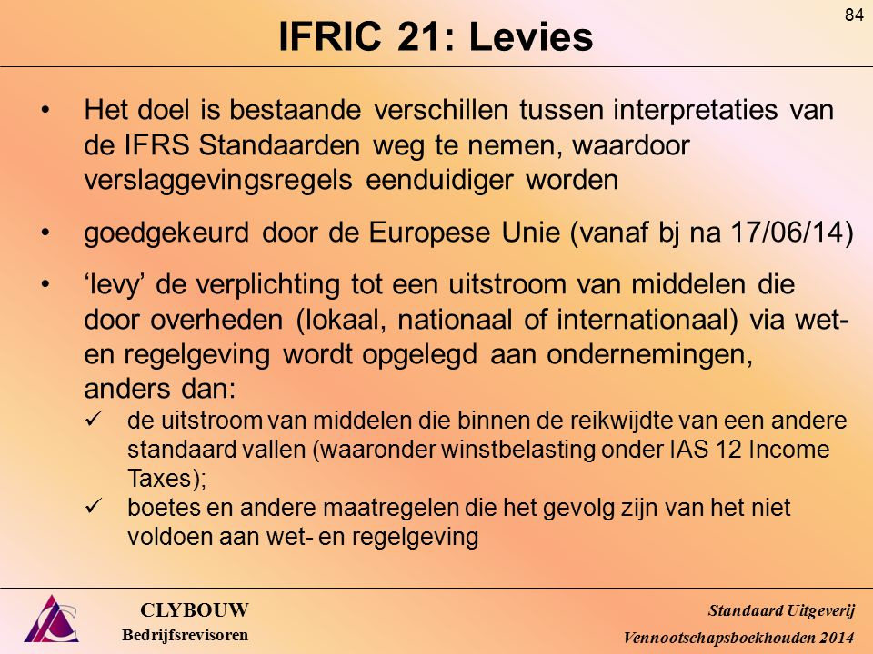 IFRIC 21: Levies