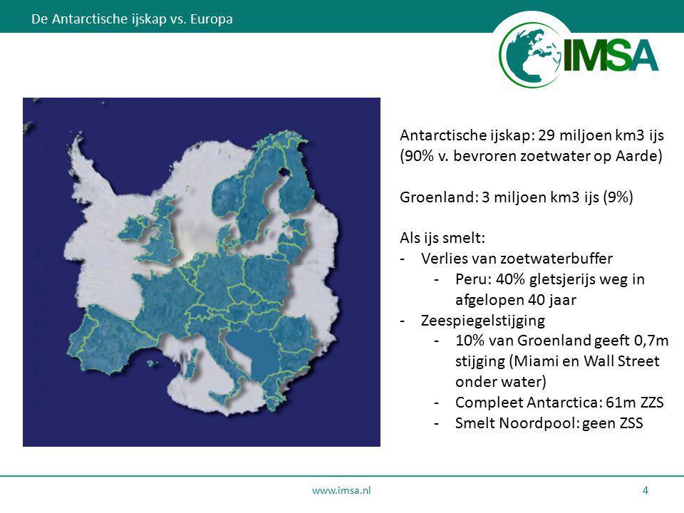 Antarctische ijskap: 29 miljoen km3 ijs