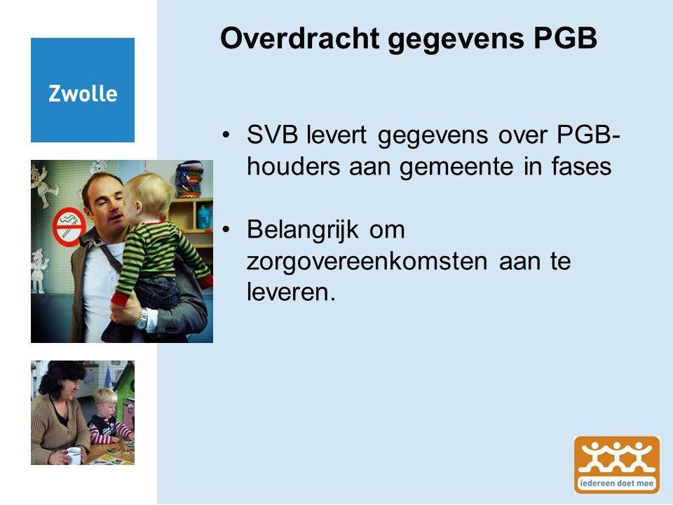 Overdracht gegevens PGB