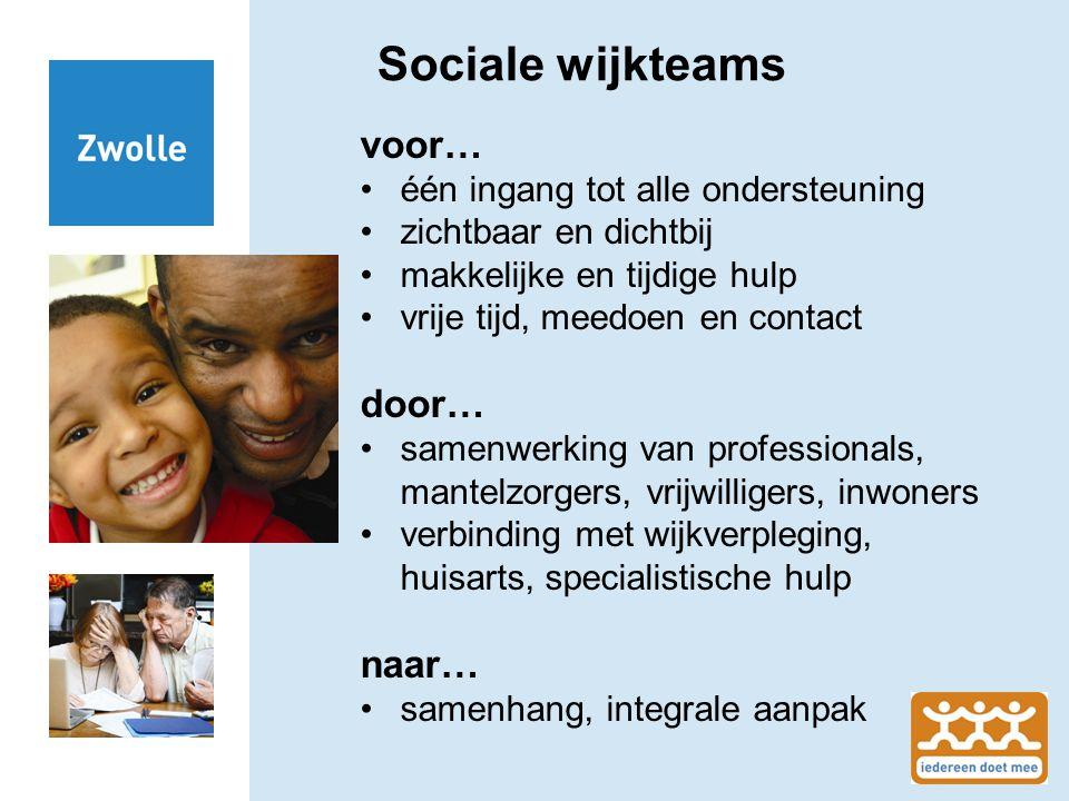 Sociale wijkteams voor… door… naar… één ingang tot alle ondersteuning