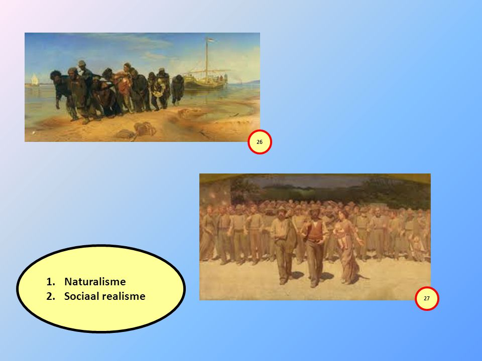 26 Naturalisme Sociaal realisme 27