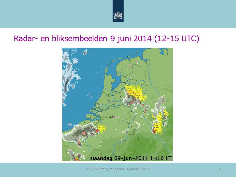 Radar- en bliksembeelden 9 juni 2014 (12-15 UTC)