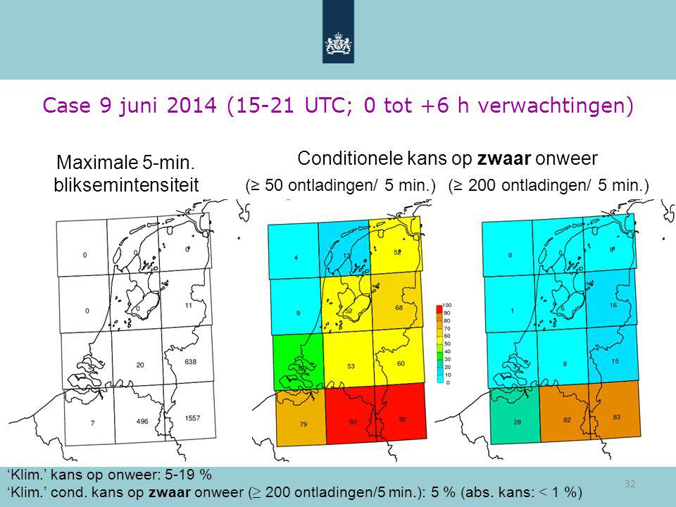 Case 9 juni 2014 (15-21 UTC; 0 tot +6 h verwachtingen)
