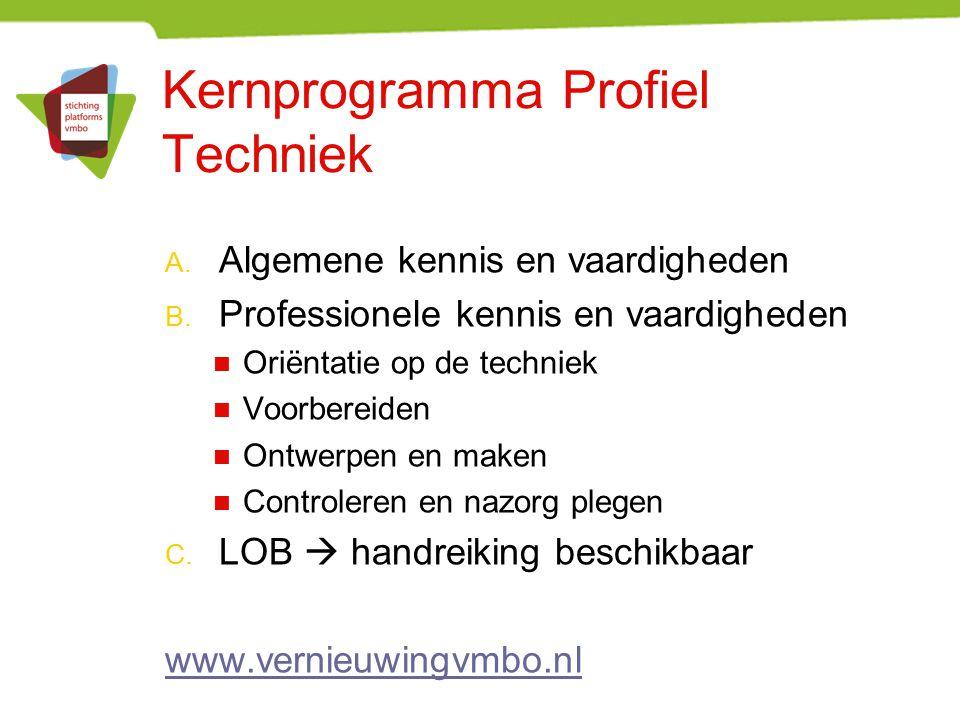 Kernprogramma Profiel Techniek