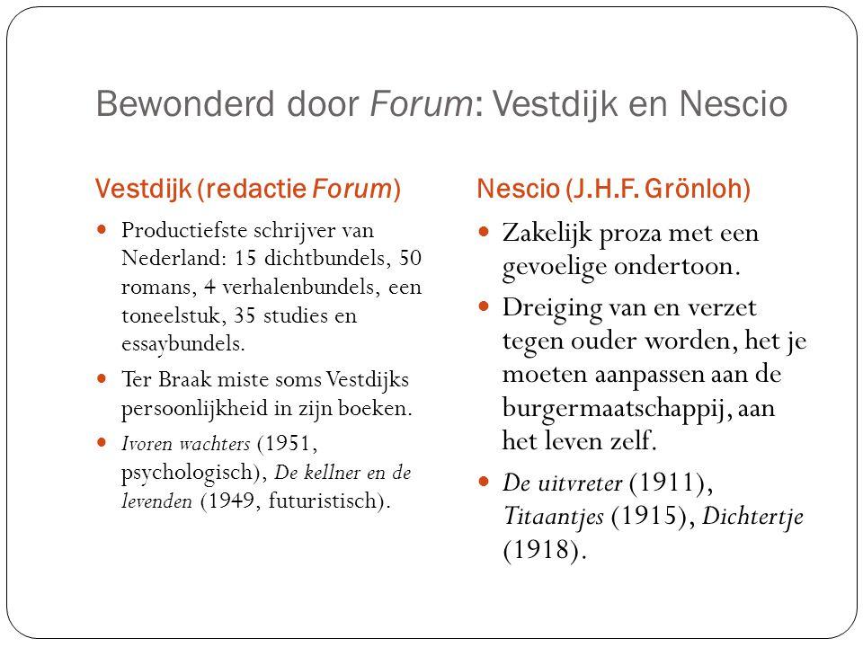 Bewonderd door Forum: Vestdijk en Nescio