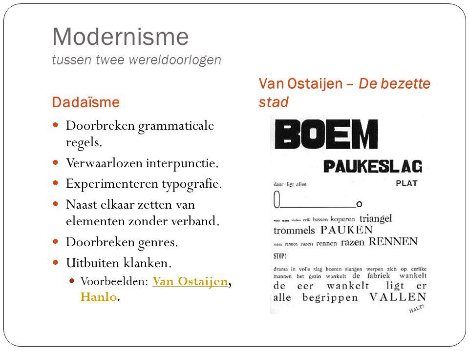 Modernisme tussen twee wereldoorlogen