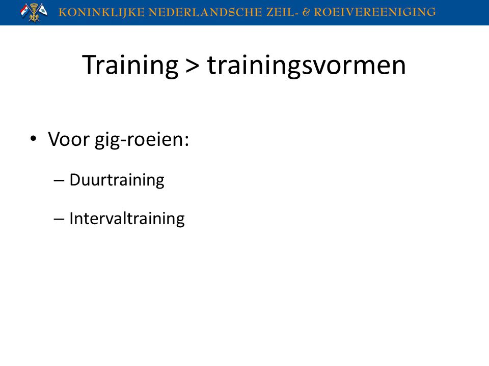 Training > trainingsvormen