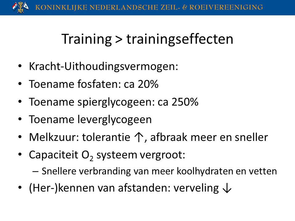 Training > trainingseffecten