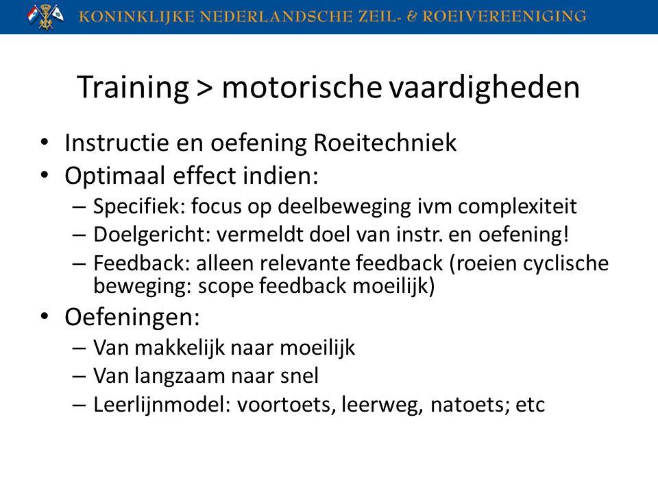 Training > motorische vaardigheden