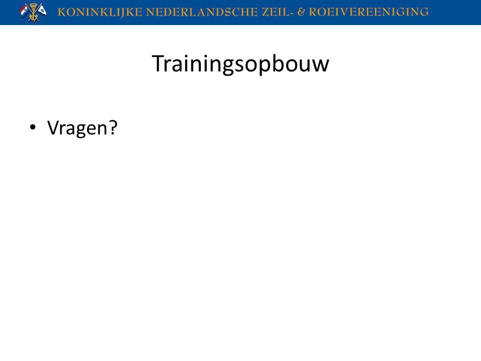 Trainingsopbouw Vragen