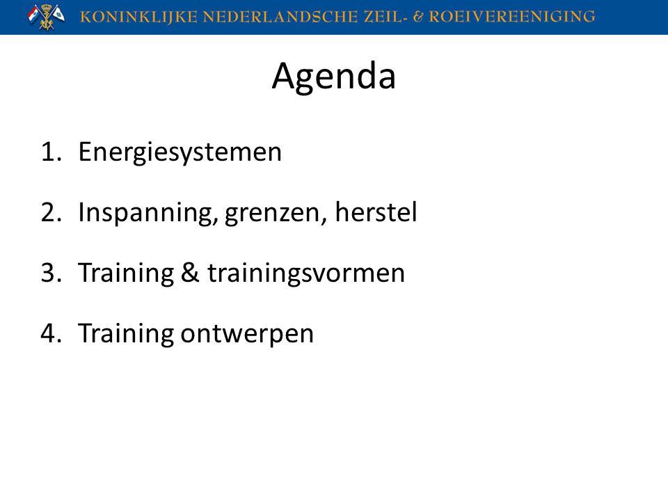 Agenda Energiesystemen Inspanning, grenzen, herstel