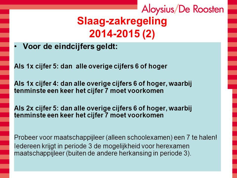 Slaag-zakregeling 2014-2015 (2)